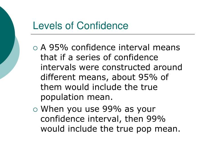 Levels of Confidence