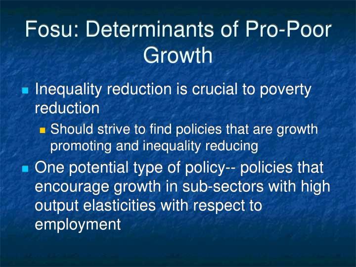Fosu: Determinants of Pro-Poor Growth