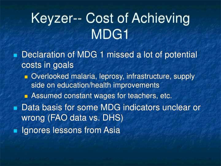 Keyzer-- Cost of Achieving MDG1