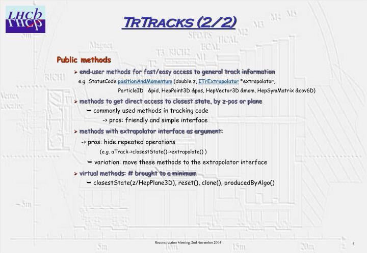 TrTracks (2/2)