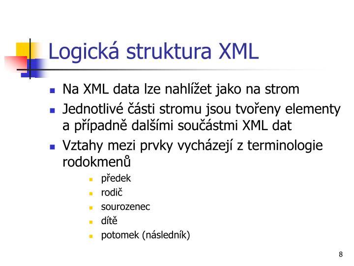 Logická struktura XML