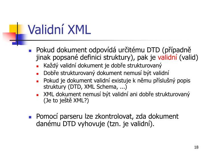 Validní XML