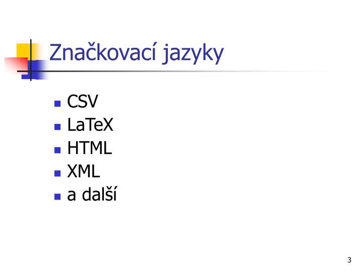 Značkovací jazyky