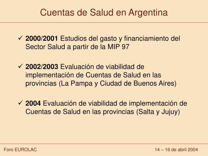 Cuentas de Salud en Argentina