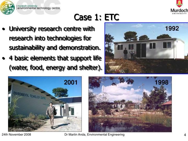 Case 1: ETC