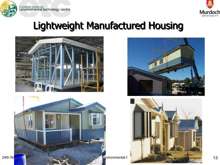 Lightweight Manufactured Housing