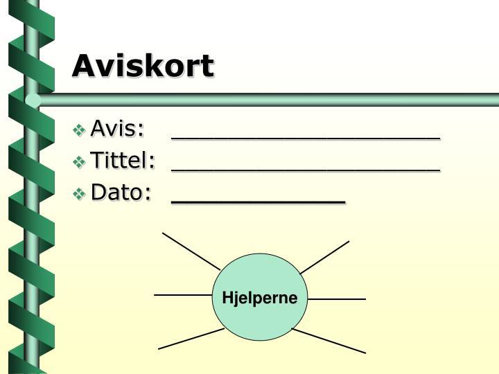 Aviskort