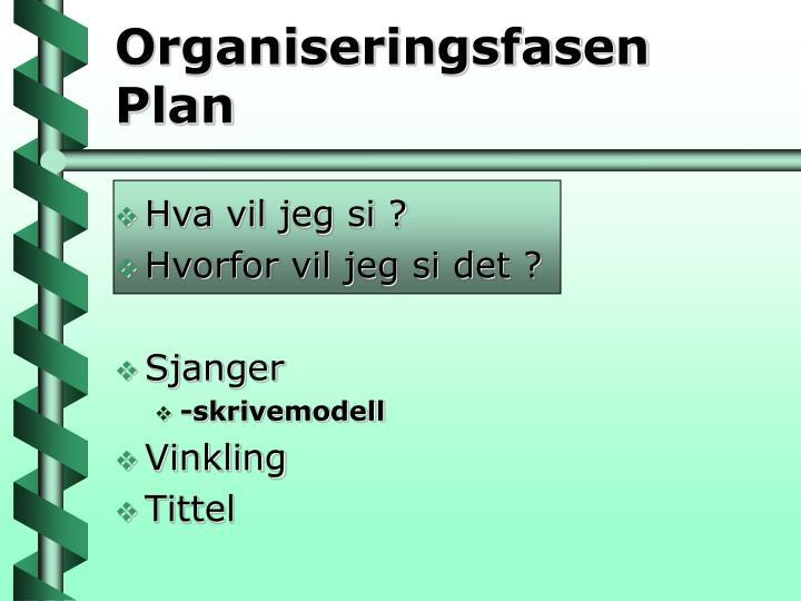 Organiseringsfasen