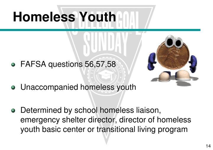 FAFSA questions 56,57,58