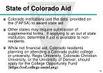 state of colorado aid
