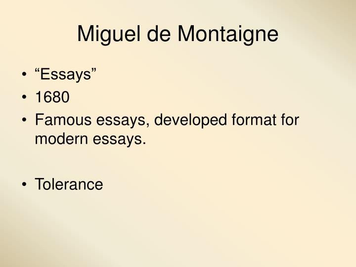 Miguel de Montaigne