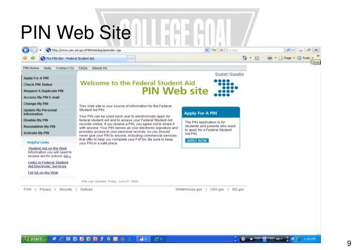 PIN Web Site