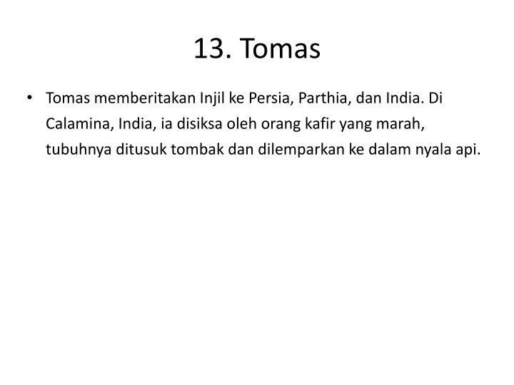 13. Tomas