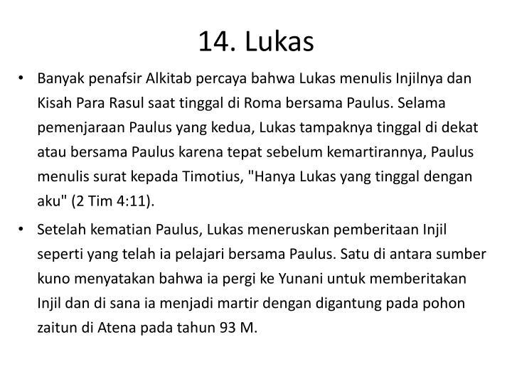 14. Lukas