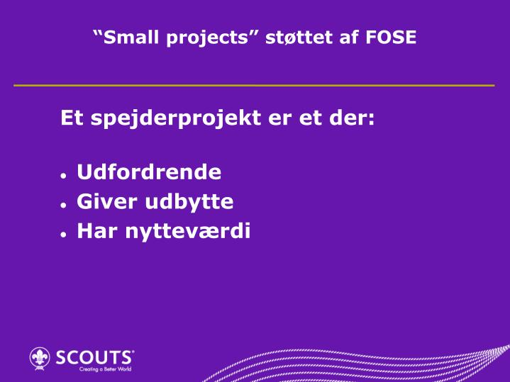 """""""Small projects"""""""