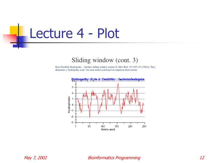 Lecture 4 - Plot