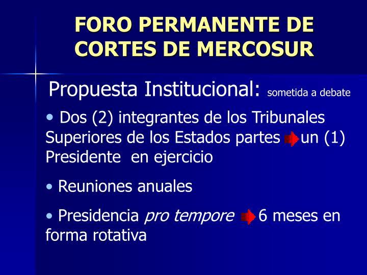 FORO PERMANENTE DE CORTES DE MERCOSUR