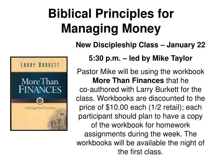 Biblical Principles for