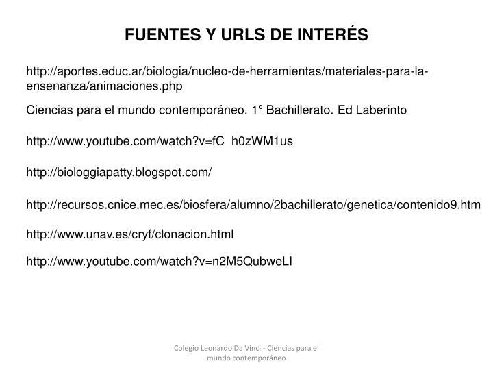 FUENTES Y URLS DE INTERÉS