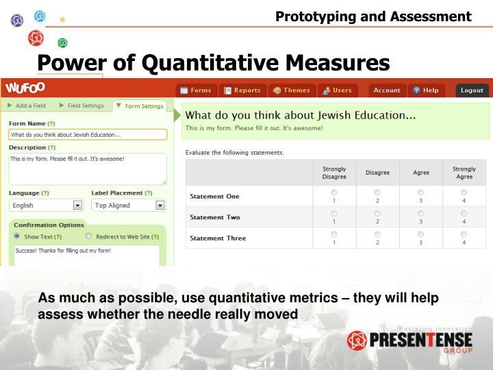 Power of Quantitative Measures