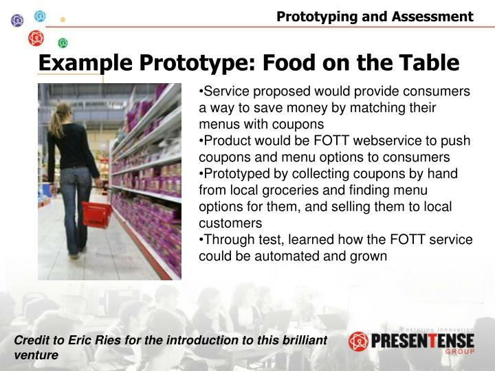 Example Prototype: Food on the Table