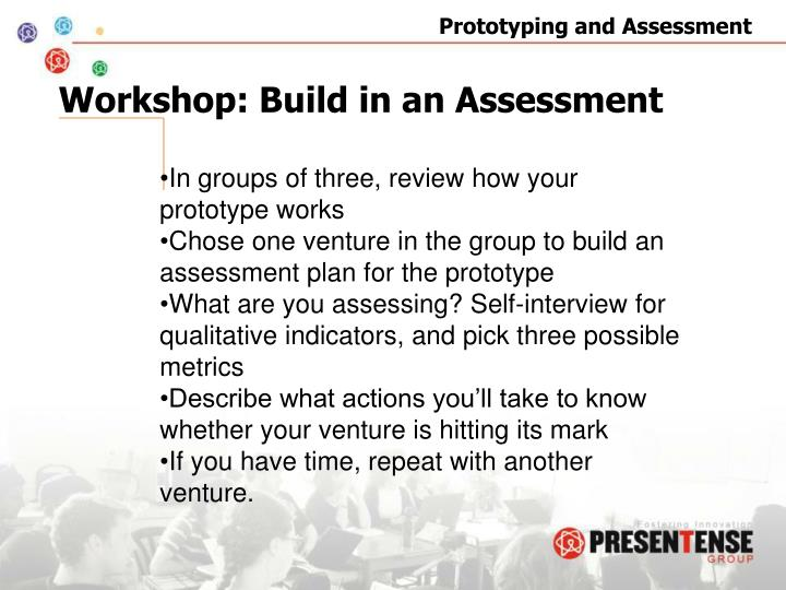 Workshop: Build in an Assessment