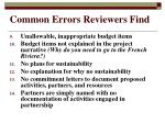 common errors reviewers find1