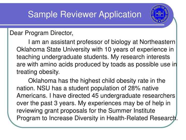 Sample Reviewer Application