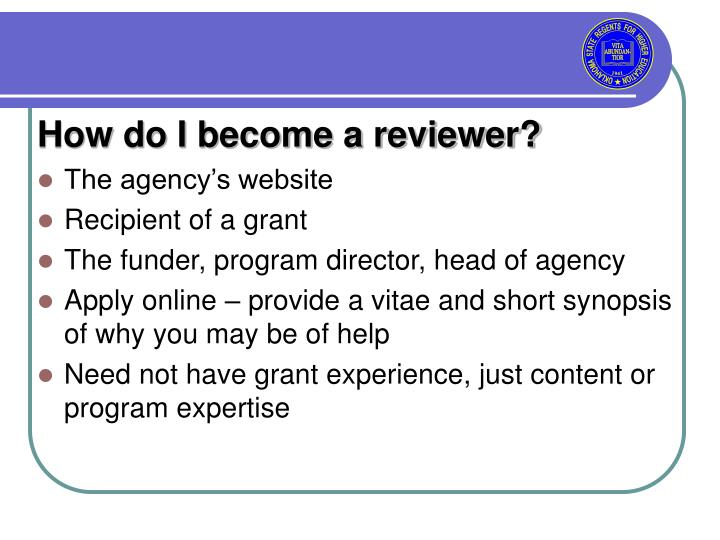 How do I become a reviewer?