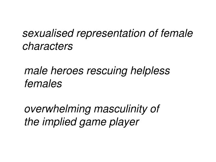 Sexualised representation of female characters