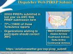 dispatcher web pirep submit