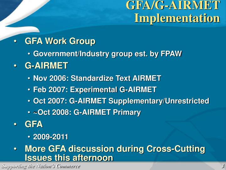 GFA/G-AIRMET Implementation