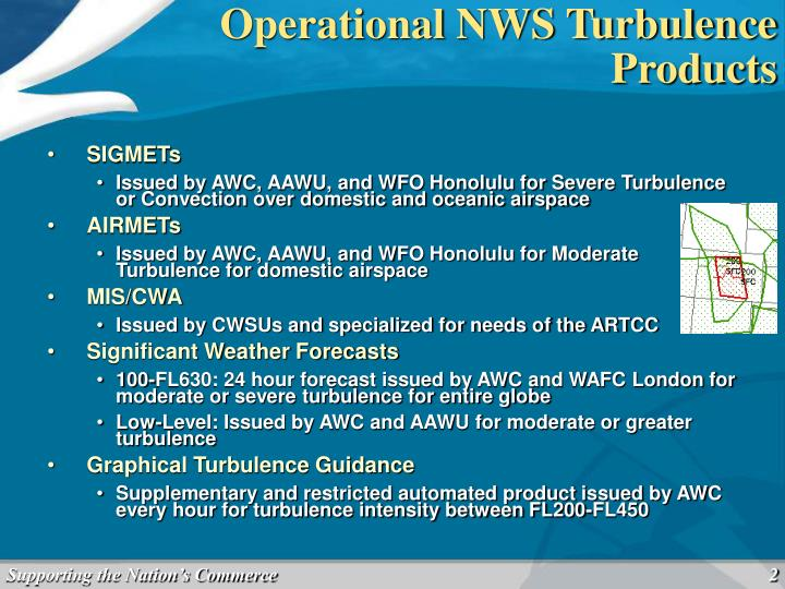 Operational NWS Turbulence Products