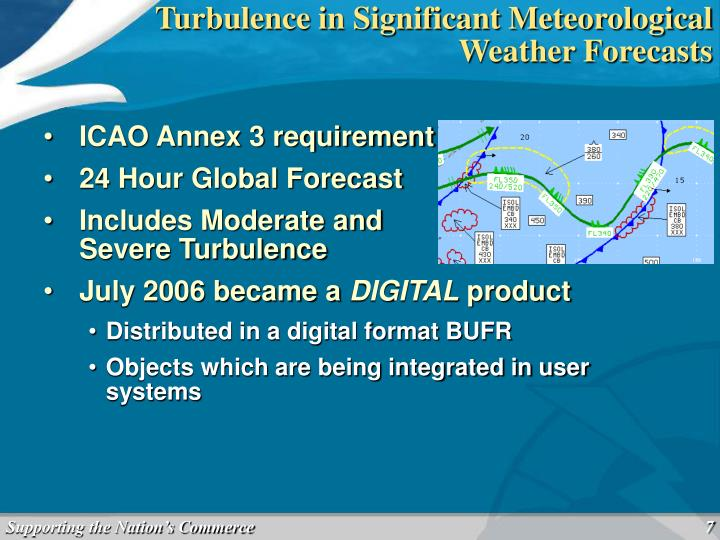 Turbulence in Significant Meteorological Weather Forecasts