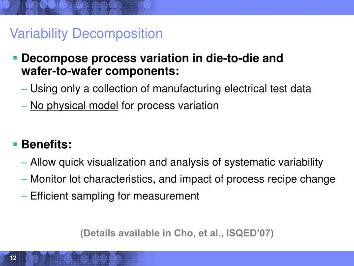 Variability Decomposition