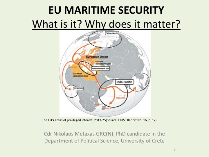Eu maritime security what is it why does it matter