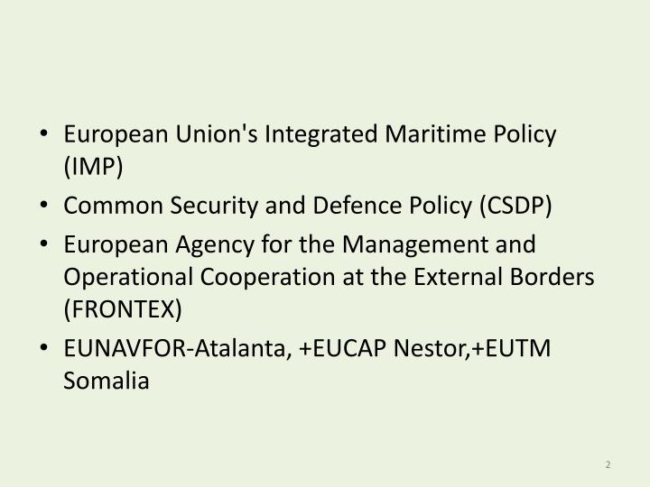 European Union's Integrated Maritime Policy (IMP)