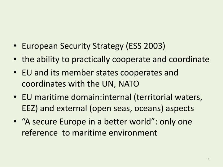 European Security Strategy (ESS 2003)