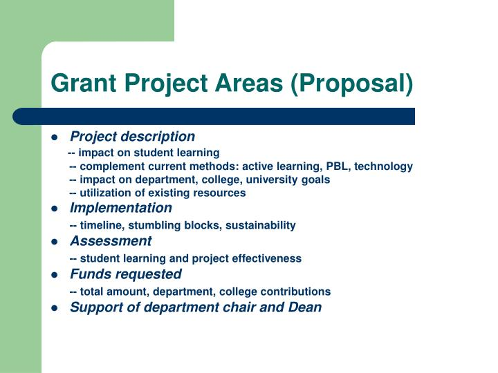 Grant Project Areas (Proposal)