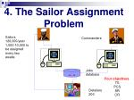 4 the sailor assignment problem