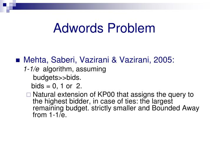Adwords Problem