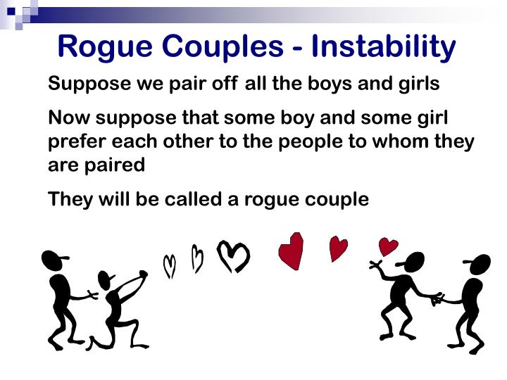 Rogue Couples - Instability