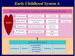 early childhood system a