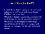 next steps for us us2