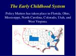 the early childhood system1