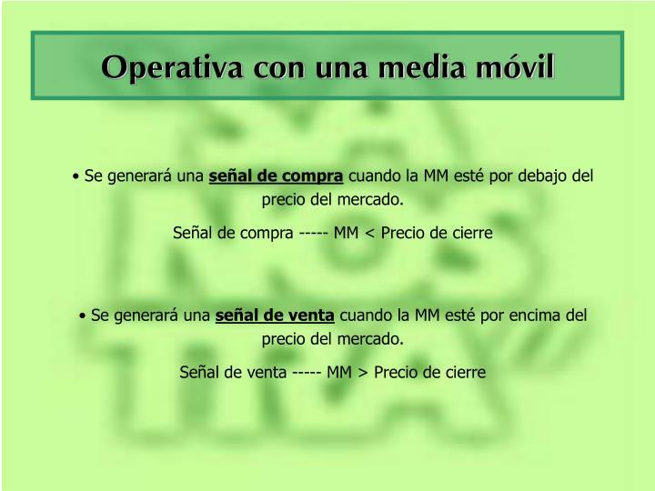 Operativa con una media móvil