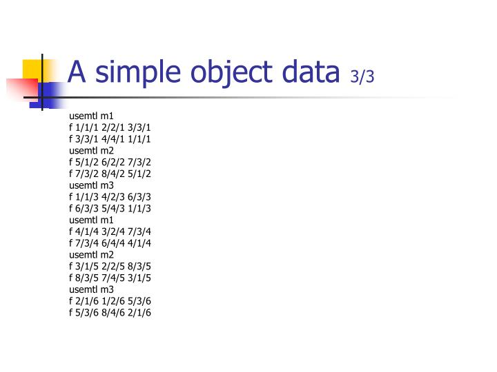 A simple object data