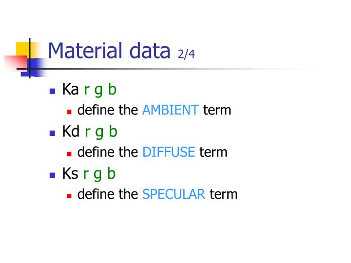 Material data