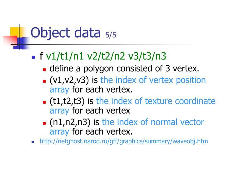 Object data