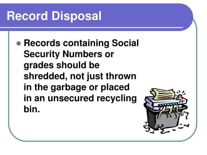 Record Disposal